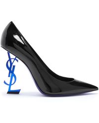 Saint Laurent | Opyum Logo-heel Patent-leather Pumps | Lyst