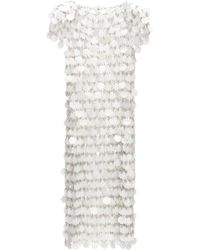 Paco Rabanne Sequinned Chainmail Dress - White