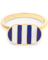 Jessica Biales - Enamel & Yellow Gold Ring - Lyst