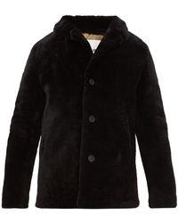 Yves Salomon Shearling Coat - Black