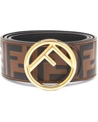 Fendi Ff-embossed Leather Belt - Multicolour