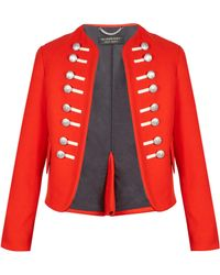 Burberry - Button-embellished Wool Military Jacket - Lyst