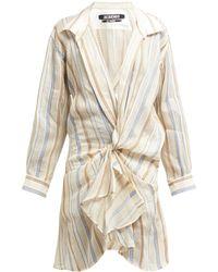 Jacquemus - Alassio Knotted Cotton Blend Shirt Dress - Lyst