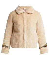 Shrimps - Junior Angel-print Faux-fur Jacket - Lyst