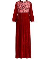 Muzungu Sisters - Touba Embroidered Velvet Dress - Lyst