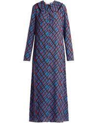 Marni Geometric-print Maxi Dress - Blue