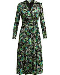 Diane von Furstenberg - Robe portefeuille à imprimé Tiger Lily Phoenix - Lyst