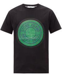 Stone Island ロゴ コットンtシャツ - ブラック