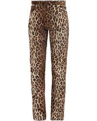 Martine Rose Leopard-print Faux-fur Trousers - Multicolour