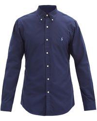 Polo Ralph Lauren スリムフィット コットンポプリンシャツ - ブルー