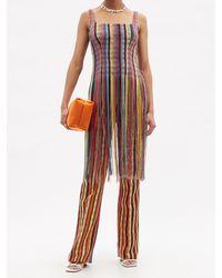 Kenneth Ize High-rise Aso-oke Trousers - Multicolour
