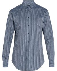 Giorgio Armani - Triangle Print Cotton Shirt - Lyst