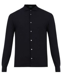 Zanone - Long-sleeved Cotton Shirt - Lyst