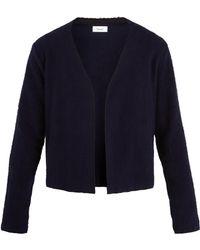 Fanmail Sherpa-fleece Cotton Cardigan - Blue