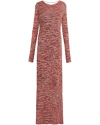 Bottega Veneta - Backless Ribbed Knit Cotton Dress - Lyst
