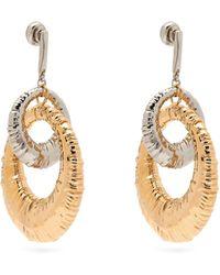 Givenchy Eclipse Interlocking Hoop Earrings - Metallic
