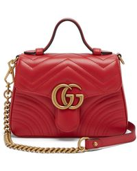 Gucci - Gg Marmont Quilted-leather Cross Body Bag - Lyst