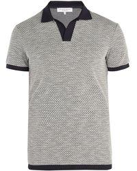 Orlebar Brown - Felix Waffle-knit Polo Shirt - Lyst