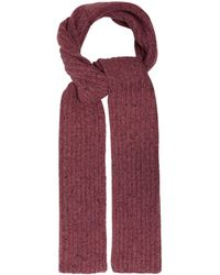 Gabriela Hearst Ribbed Knit Donegal Cashmere Scarf - Pink