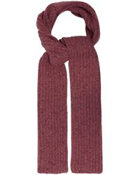 Gabriela Hearst Ribbed-knit Donegal Cashmere Scarf - Pink