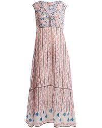 Le Sirenuse - Astrid Kantha-shell-print Sleeveless Maxi Dress - Lyst