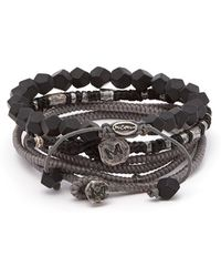 M. Cohen The Create Stack Ii Beaded Silver Bracelet - Metallic