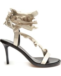 Isabel Marant - Ansel Ruffle-trimmed Leather Sandals - Lyst