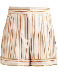 Peter Pilotto High-rise Striped Shorts - Pink