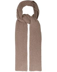 Gabriela Hearst Ribbed-knit Donegal Cashmere Scarf - Natural