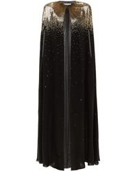 Givenchy Sequinned Silk-chiffon Cape - Black