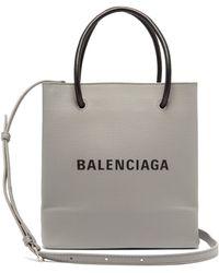 Balenciaga - Xxs Printed Textured-leather Tote - Lyst