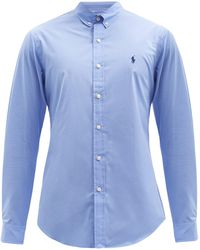 Polo Ralph Lauren カスタムスリムフィット コットンポプリンシャツ - ブルー