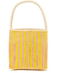 Sensi Studio - Beaded Fringe Torquilla Straw Basket Bag - Lyst