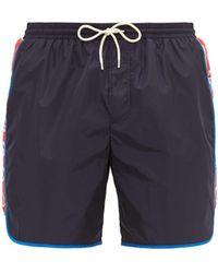 Gucci - Logo Stripe Swim Shorts - Lyst
