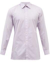 Charvet Striped Cotton-poplin Shirt - Multicolour