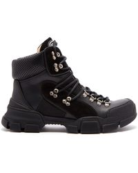 Gucci - Flashtrek Leather High Top Trainers - Lyst
