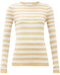 Bella Freud ストライプ メタリックセーター - マルチカラー