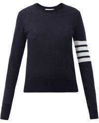 Thom Browne 4bar インターシャ メリノウールセーター - ブルー