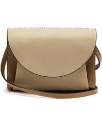 Marni Law Panelled Leather Belt Bag - Natural