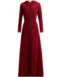 Luisa Beccaria - Lace-embellished Cady Gown - Lyst