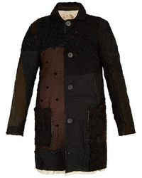 By Walid - - Malcolm Patchwork Silk Coat - Mens - Brown - Lyst