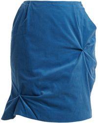 CHARLES JEFFREY LOVERBOY - Mini-jupe en velours de coton côtelé - Lyst