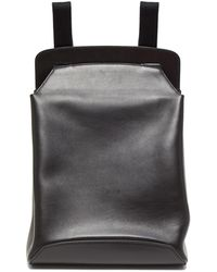 The Row Moulded Leather Backpack - Black