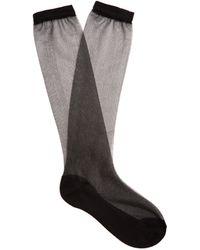 Raey Sheer Silk-blend Socks - Black