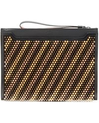 Christian Louboutin Skypouch Studded Leather Pouch - Black