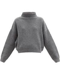 Isabel Marant ブルック ウールカシミア タートルネックセーター - グレー