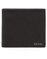 Paul Smith - - Bi Fold Grained Leather Wallet - Mens - Black Multi - Lyst