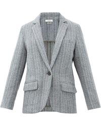 Étoile Isabel Marant Veste en laine à boutonnage simple Charly - Gris