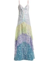 Peter Pilotto - Tiered Floral-lace Slip Dress - Lyst