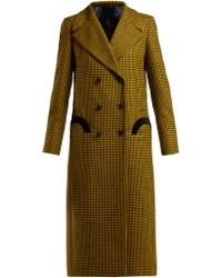 Blazé Milano Fair & Square Checked Wool Coat - Green